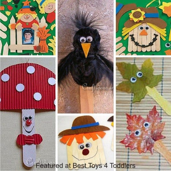 Autumn crafts with popsicle sticks for kids
