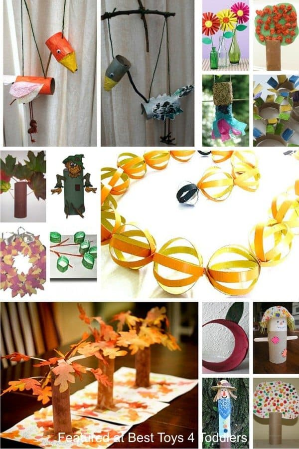 Autumn themed crafts for kids from toilet paper roll