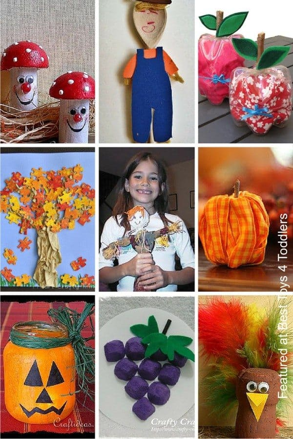 Recycled autumn crafts for kids to enjoy and play