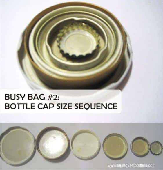 Best Toys 4 Toddlers - bottle cap size sequence busy bag