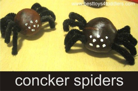concker spiders craft for halloween www.besttoys4toddlers.com