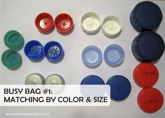 Best Toys 4 Toddlers - bottle cap pair match busy bag