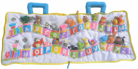 best waiting room toys for toddlers - fabric alphabet train