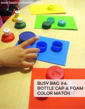 5 Easy Bottle Cap Busy Bags