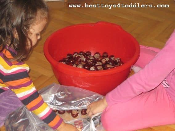 chestnut sensory bin besttoys4toddlers.com