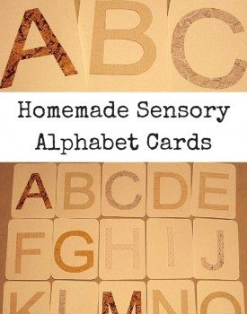 Homemade Sensory Alphabet Cards