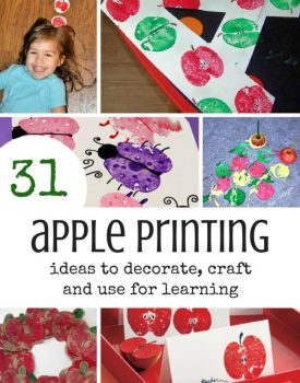 31 Ideas with Apple Prints for Decorations, Arts and Learning