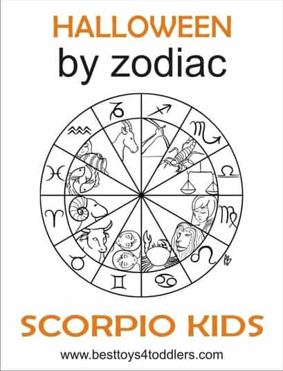 Halloween by Zodiac Scorpio kids costumes by besttoys4toddlers.com