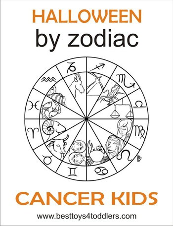 halloween by zodiac - cancer kid costumes by besttoys4toddlers.com