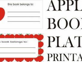 Free Printable Apple Book Plates