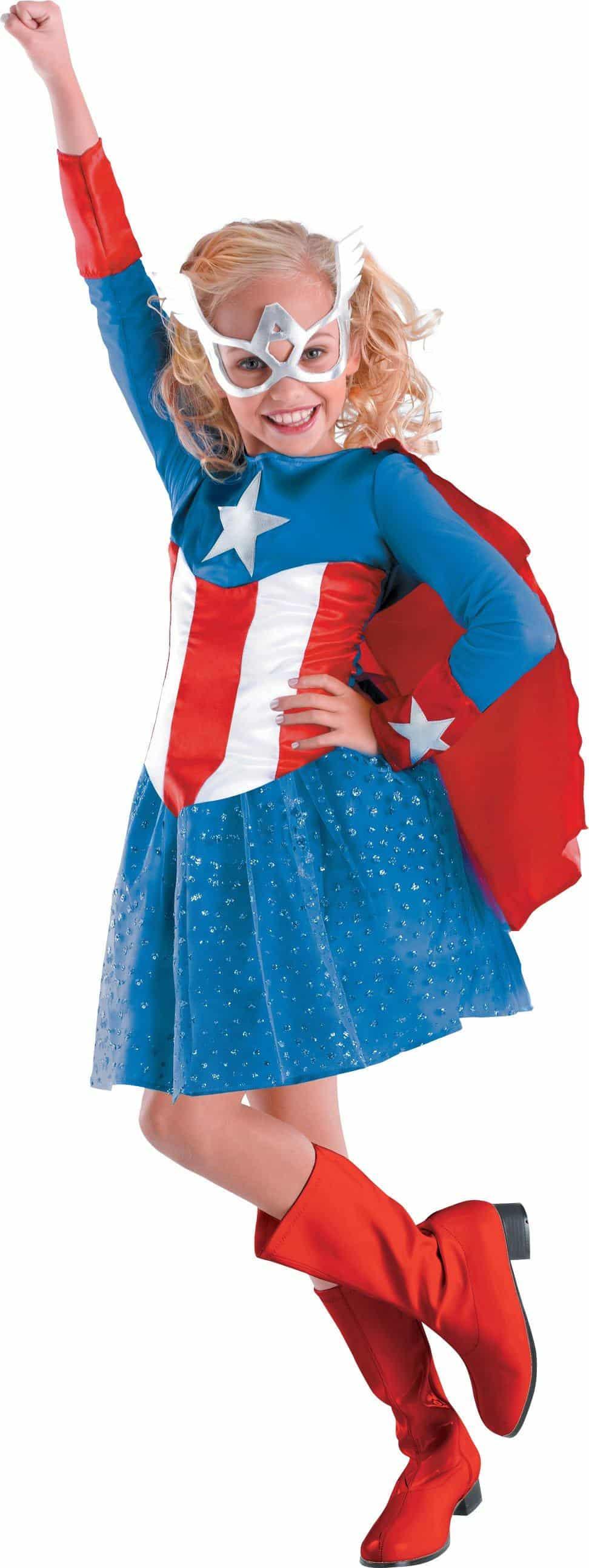 Captain America Girl Classic Toddler / Child Costume