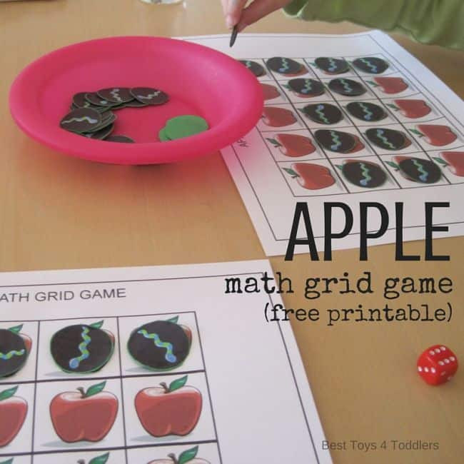 Best Toys 4 Toddlers - apple math game for toddlers and preschoolers - free printable