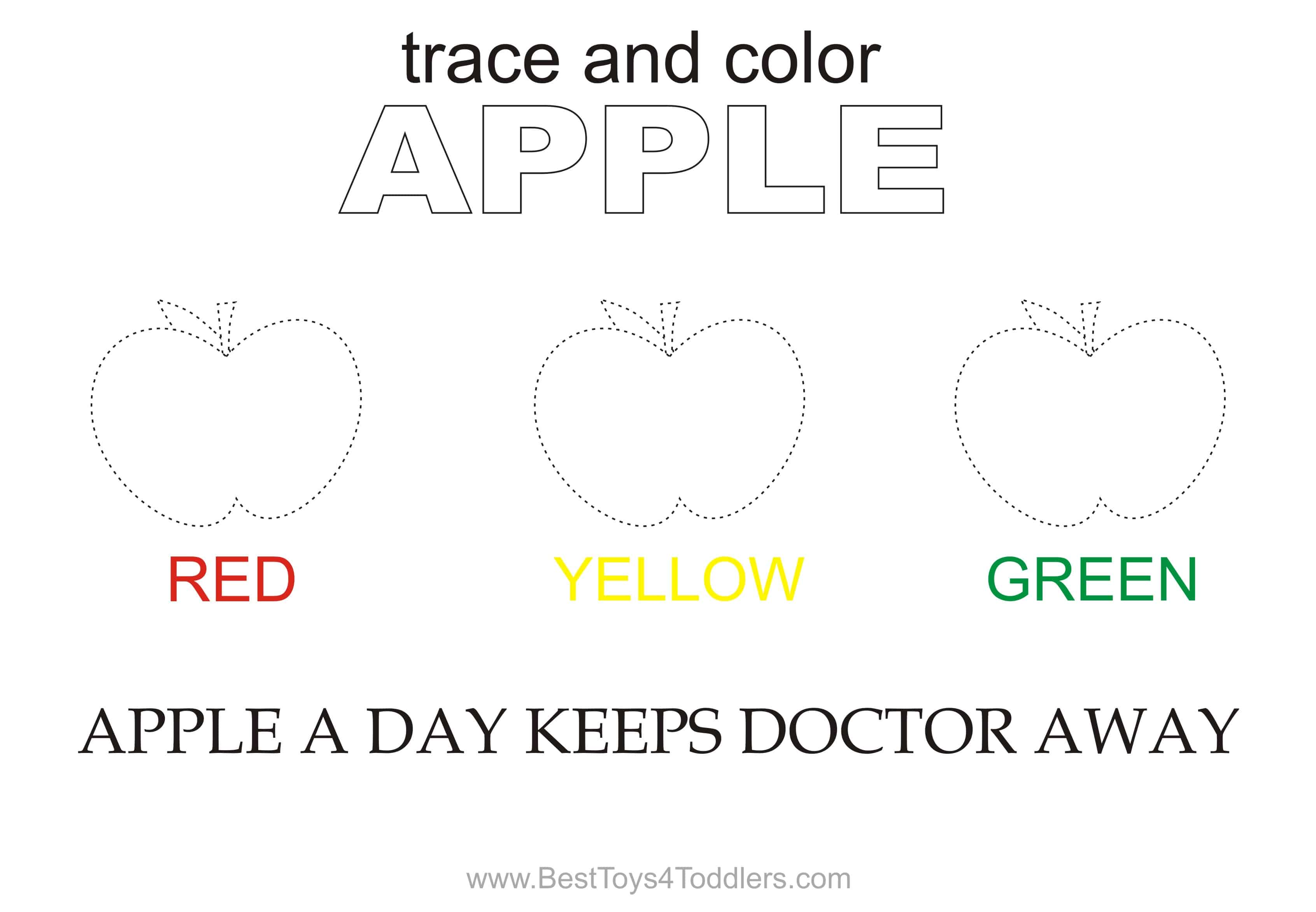 photograph relating to Apple Printable called Apple Hint and Shade Printable Sheet - Easiest Toys 4 Babies