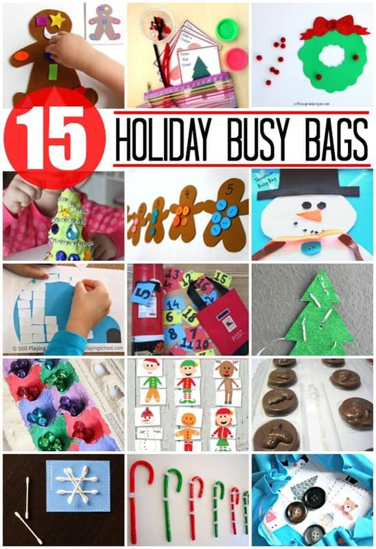 15 Holiday Busy Bags via Best Toys 4 Toddlers