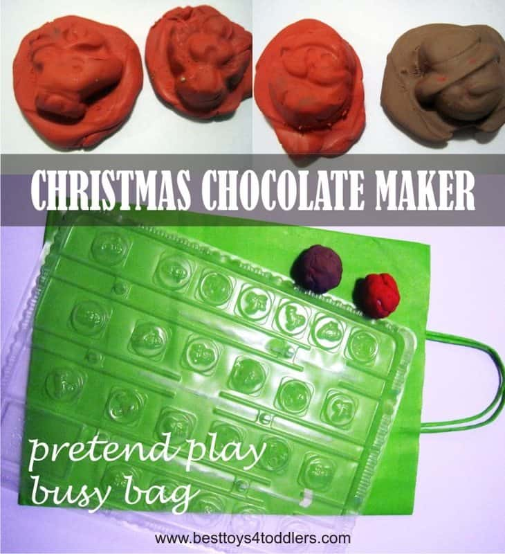 Christmas Chocolate Maker Pretend Play Busy Bag for Toddlers and Preschoolers