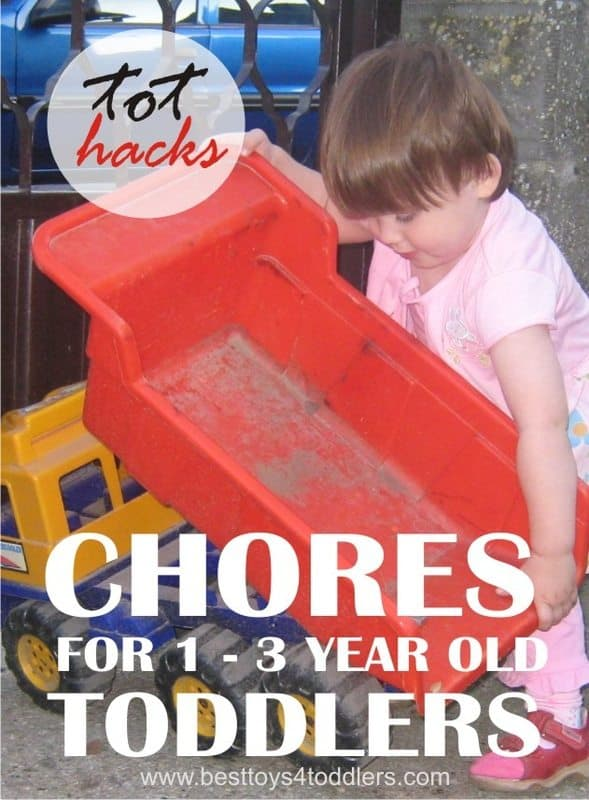 Tot Hacks - Chores for 1 - 3 year old toddlers - shared by parents who have been there (and still are!)