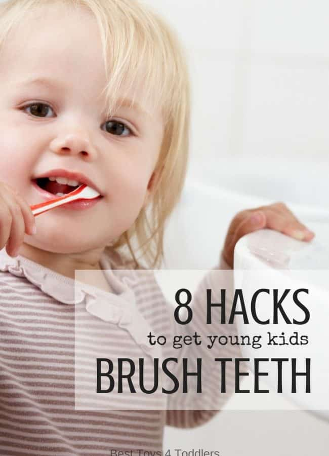 Best Toys 4 Toddlers - 8 parenting hacks shared by moms to get young kids (babies, toddlers and preschoolers) to brush their teeth without fuss and tears!