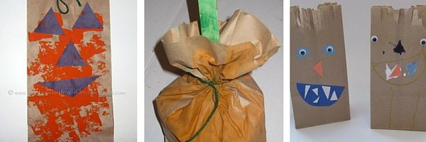Recycle paper bags for Halloween crafts
