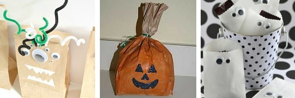 Halloween paper bag crafts for kids