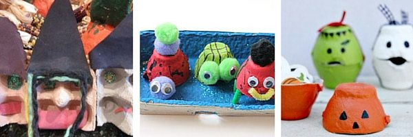 easy Halloween egg cartons for kids
