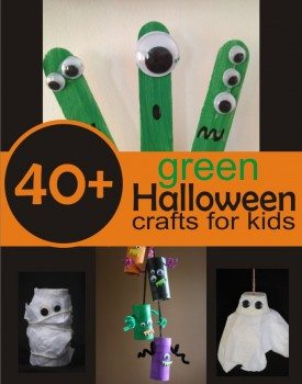 40+ Green Halloween Crafts for Kids
