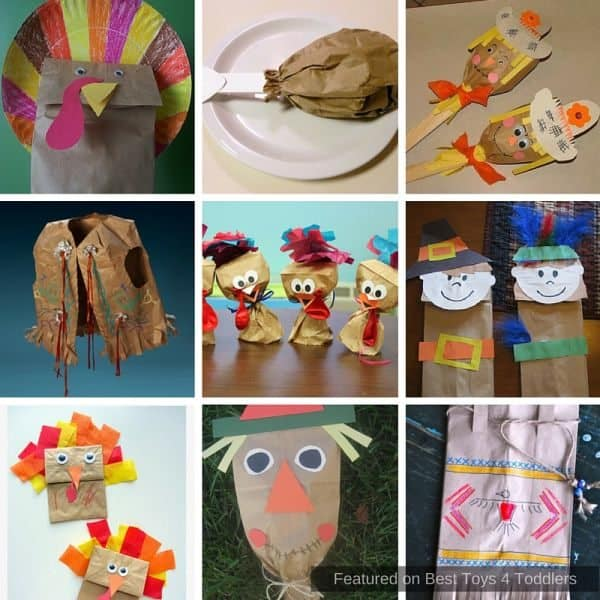Great paper bag crafts to create with kids for Thanksgiving