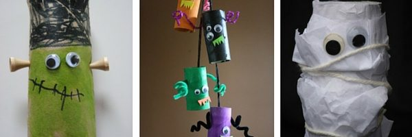 paper roll crafts for Halloween