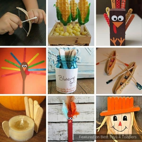 Thanksgiving crafts for kids using popsicle sticks