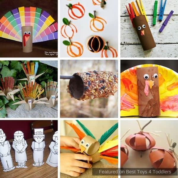 Straight from recycle bin - paper roll crafts to make with kids this Thanksgiving!