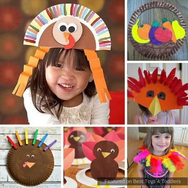 Beautiful Thanksgiving cafts from paper plates for children of all age!