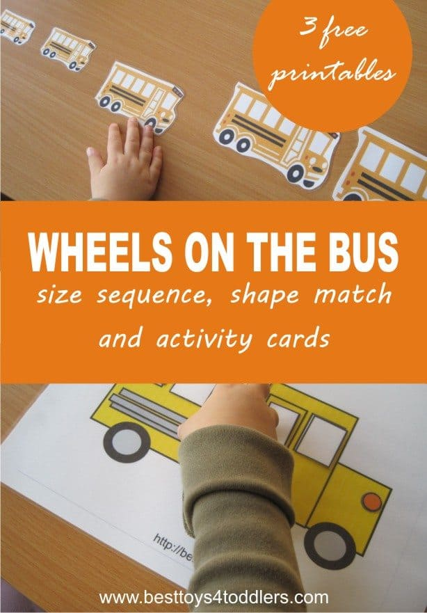 Wheels on the bus learning printables