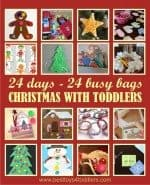 24 Busy Bags for Christmas with Toddlers