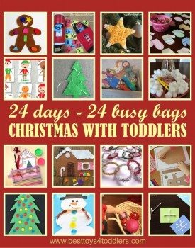 24 Busy Bags for 24 Day of Christmas Advent Activities Fun Time with Toddlers