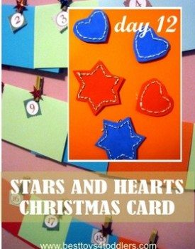 Stars and Hearts Christmas Cards