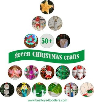 50+ Green Christmas Crafts for Kids, straight from recycle bin! Easy and cheap Christmas crafts for toddlers, preschoolers and school age kids