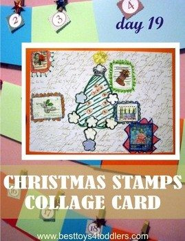 Christmas Stamps Collage Card