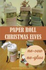 No-Sew & No-Glue Paper Roll Christmas Elves
