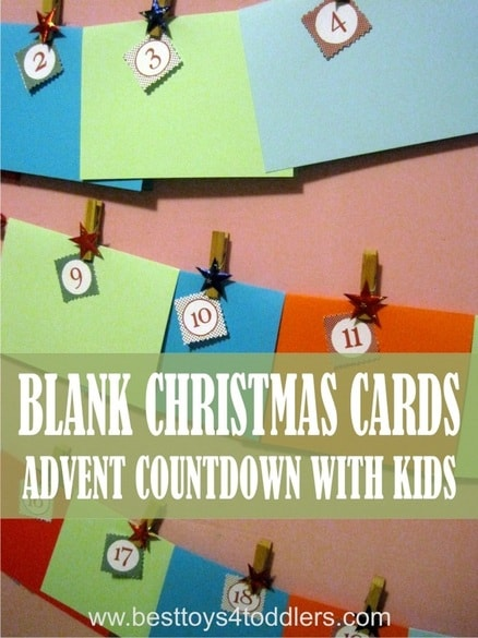 Blank Christmas Cards - Christmas Advent Countdown with Kids