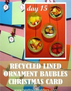 Recycled Lined Ornament baubles cards