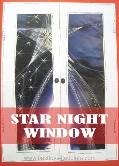 Easy to make in minutes! Night Star Window Card - Day 23 in Blank Christmas Cards Advent Coountdown for kids