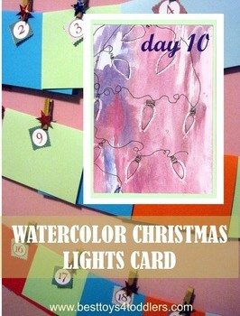 Watercolor Christmas Lights Card