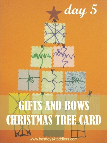 Gift and Bows Christmas Tree Card - Day 5 in Blank Christmas Cards Advent Countdown