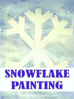 Snowflake Painting - Winter Preschool Fun