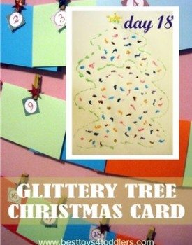 Glittery Tree Christmas Card
