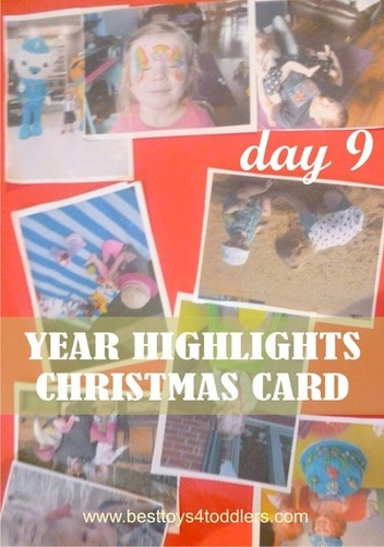 Year Highlights Christmas Card - Day 9 in Blank Christmas Cards Advent Countdown