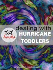Tot Hacks - Dealing with Hurricane / Tornado Toddlers, tips shared by real parents
