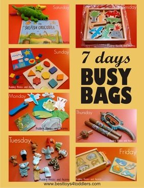 7 Days of Busy Bags for 2 year old toddler