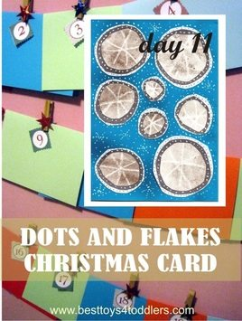 Dots and Flakes Christmas Card - Day 11 in Blank Christmas Cards Advent Countdown