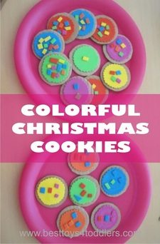 Colorful Christmas Cookies with Toddlers