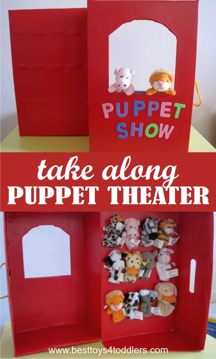 Create Take Along Finger Puppet Theater from Shoe Box